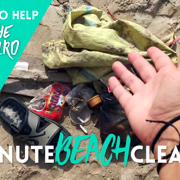 #5MinuteBeachCleanUp